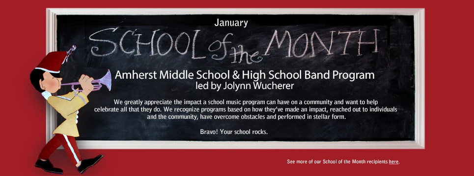 Amherst Middle and High School Band Program Jolene Wucherer