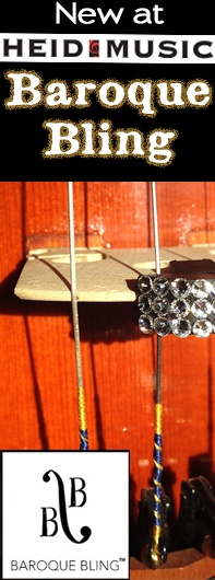 Baroque Bling for your viola, violin or cello can be found at Heid Music!