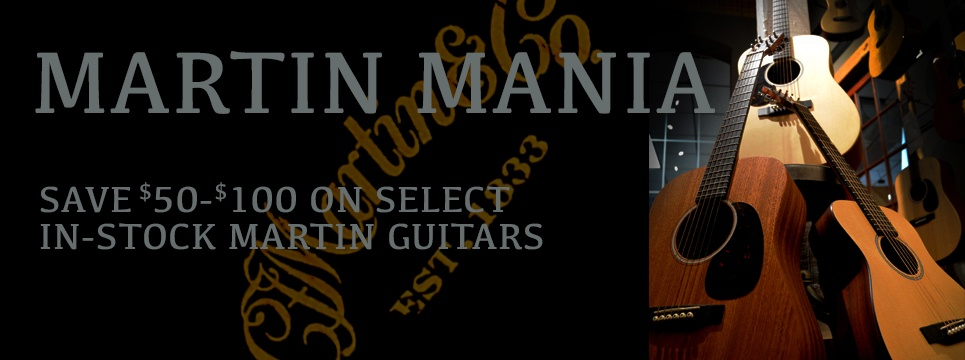 Huge savings on Martin guitars