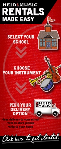 School Band & Orchestra Rentals at Heid Music - the best instrument rental plan in Wisconsin