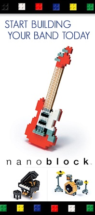 The nanoblock guitar, piano, & drums are on sale at heidmusic.com!
