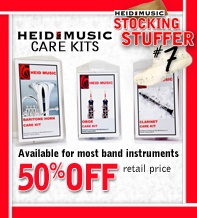50% Off Band instrument care products & tips from Heid Music