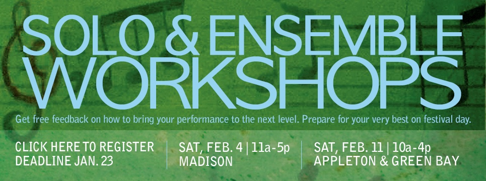solo and ensemble workshops for fine tuning your performance before competiion day