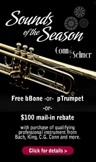 Sounds of Season Conn Selmer Free Gift or Rebate on band instruments