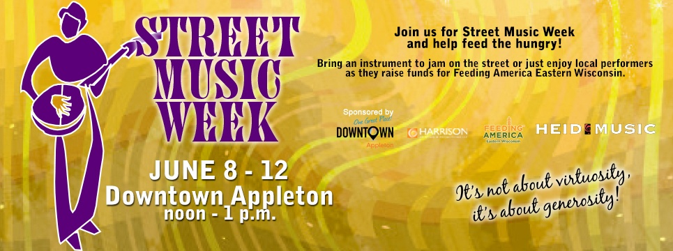 street music week downtown appleton june 8-12
