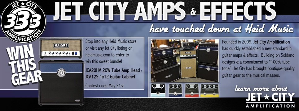 Win Jet City Amps and Effects at Heid Music &#38&#59; heidmusic.com. Now thru May 31&#33&#59;