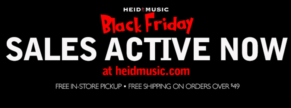 Black Friday specials on guitars, amps, ornaments, violins and more