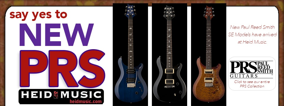 New PRS SE models are available in Wisocnsin at Heid Music and online at heidmusic.com&#33&#59;