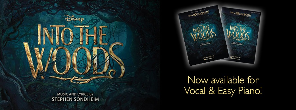 Into the Woods sheet music books now availble at Heid Musi &#38&#59; heidmusic.com