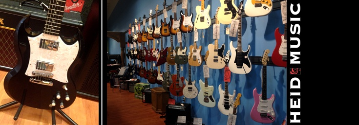Electric Guitars in Green Bay Wisconsin at Heid Music & heidmusic.com