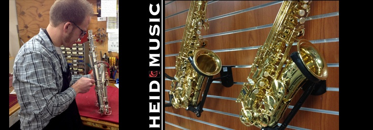 Sax repair at Heid Music Appleton