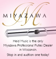 Miyazawa Pro Flutes at Heid Music and heidmusic.com - Wisconsin