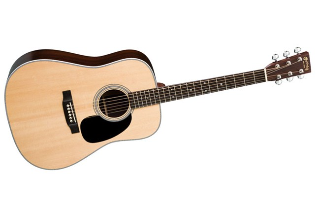 Martin D-28P Acoustic Guitar - Tilted