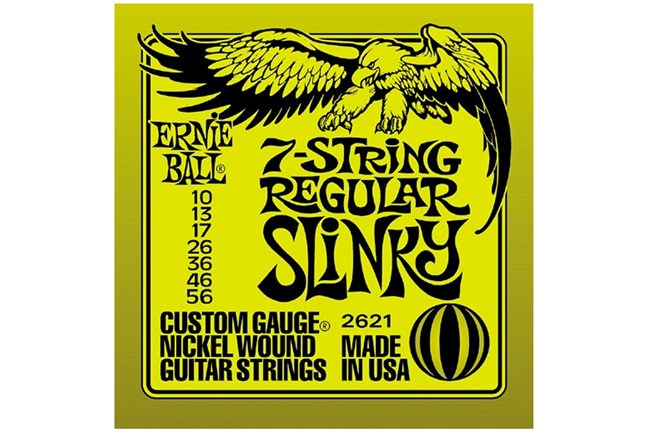 7-string ernie ball slinky guitar strings 2621