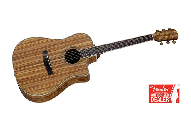 Fender Cd 220ce Acoustic Electric Guitar Zebrano Natural