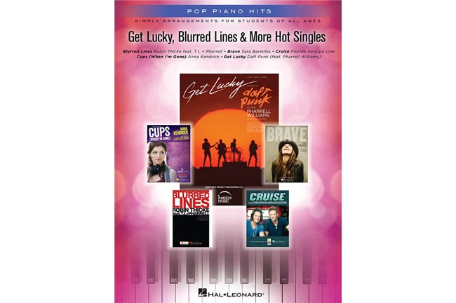 Get Lucky Blurred Lines Pharrell Piano Sheet Music Book