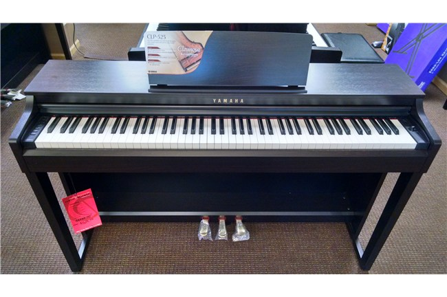 Used yamaha clp 525 clavinova digital piano black walnut for Yamaha clavinova price list