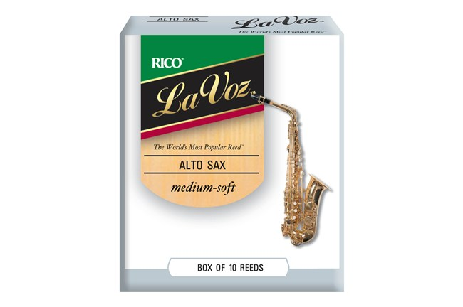 La Voz Alto Saxophone Reeds Medium Soft Stength Box of 10