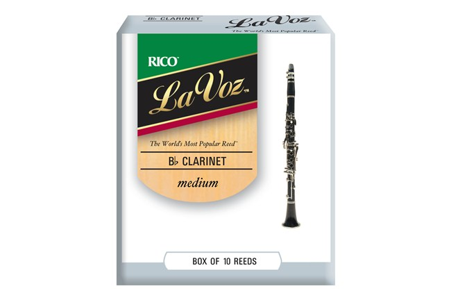 La Voz Clarinet Reeds Medium Stength Box of 10