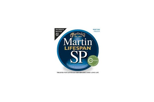 Martin SP Lifespan MSP7200 Medium Acoustic Guitar Strings heidmusic