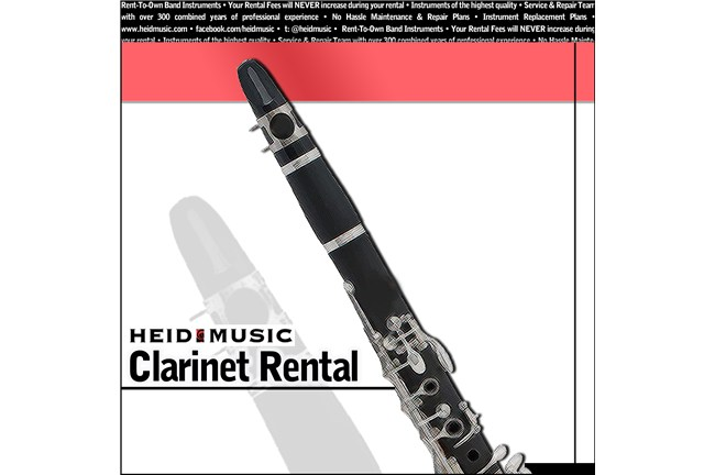 Clarinet Rental Online - Rent a Clarinet from Heid Music at heidmusic.com