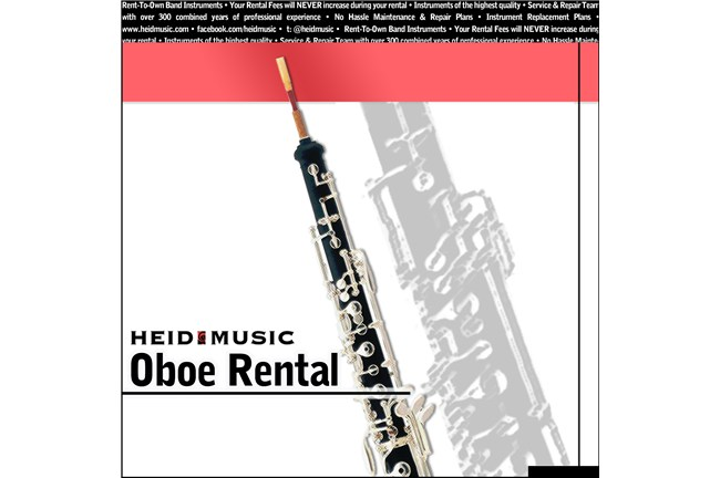Oboe Rental Online - Rent an Oboe from Heid Music at heidmusic.com