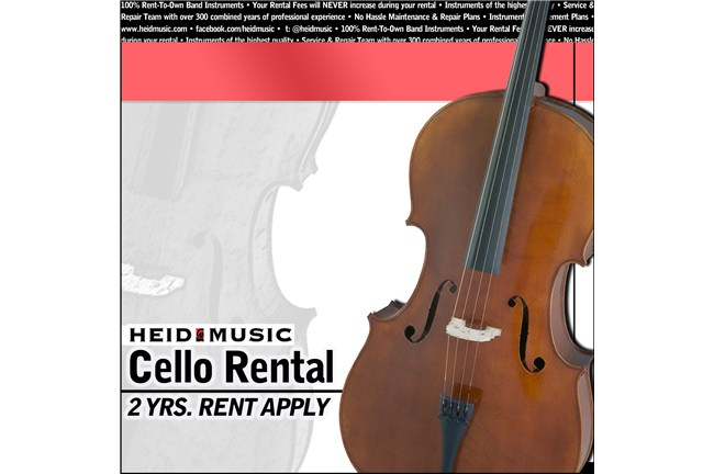 Cello Rental Online - Heid Music