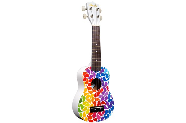 amahi dduk soprano ukulele rainbow flower heid