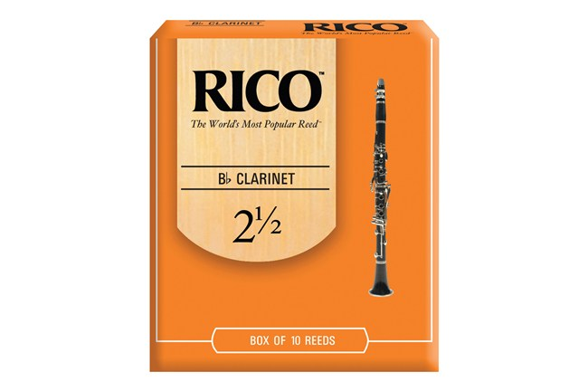 Rico Clarinet Reeds Strength 2.5 Box of 10