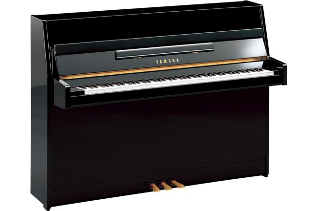 Yamaha b1 upright acoustic piano polished ebony heid music for Yamaha b1 piano price