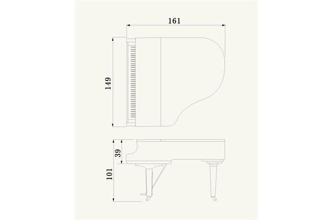 yamaha c1x grand piano  polished ebony