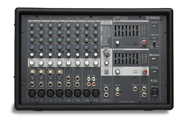 Yamaha EMX512SC 12 channel powered mixer with onboard effects and eq