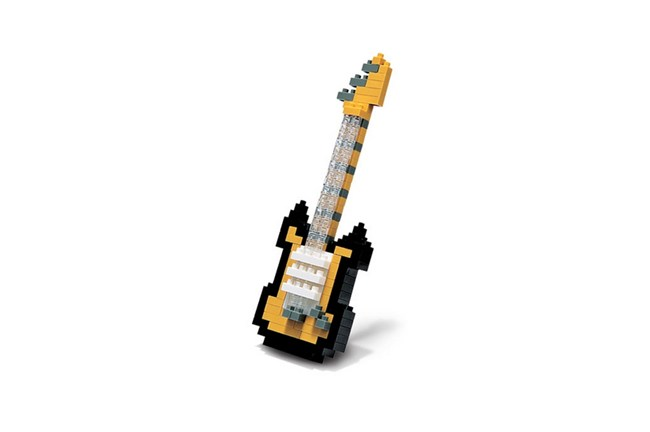 nanoblocks Gold Electric Guitar