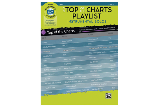 Easy Top of the Charts Playlist (Viola)