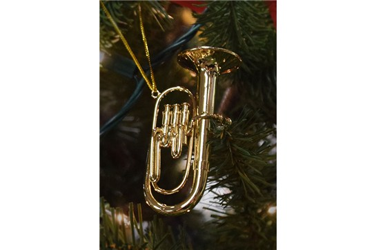 Gold Tuba Ornament heidmusic