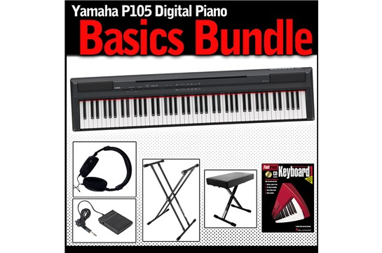 Yamaha p105 basics bundle heid music for Yamaha p105 sustain pedal