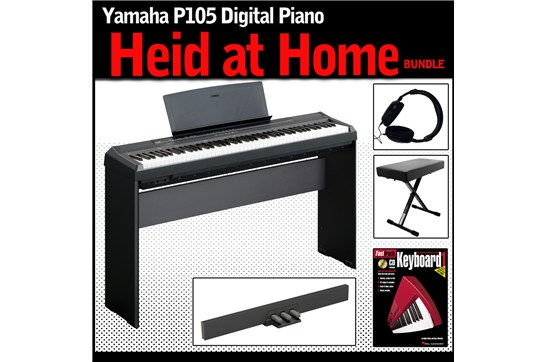 Yamaha p105 heid at home piano bundle heid music for Yamaha p105 digital piano bundle