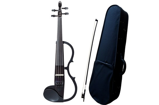 Yamaha sv130 silent violin bundle with case and bow black for Yamaha electric violin