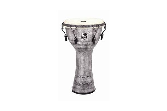 "10"" Toca Djembe Antique Silver Heid Music"