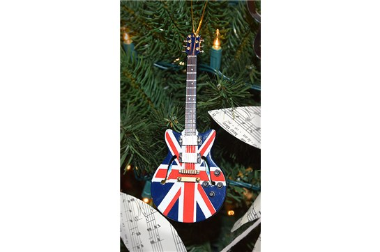 Union Jack Guitar Ornament Heid Music