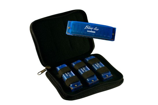 Hohner Blue Ice Harmonica - 3 Pack