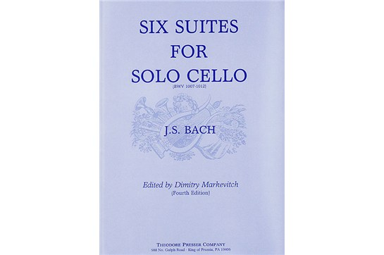 2311S01, Six Suites for Solo Cello, Bach