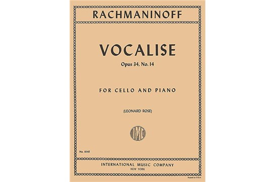 2311A8, Vocalise Op 34 No 14 Cello, Rach