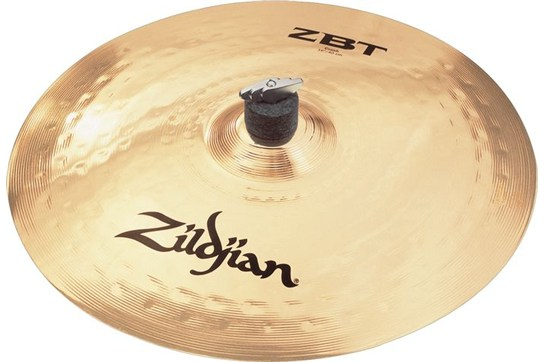 Zildjian ZBT Crash Cymbal creates a bright sound that takes center stage.
