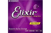 Elixir 11075 PolyWeb 80/20 Medium Light Acoustic Guitar Strings