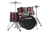Yamaha Gigmaker Complete 5-Piece Drum Set with Cymbals & Hardware (Burgundy Glitter)