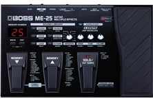 boss me-25 guitar effects pedal top
