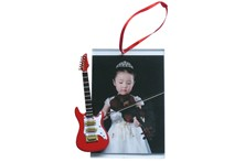 Ornament, picture frame, red guitar