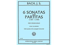 Six Sonatas and Partitas, S. 1001-1006 (for Violin Solo)