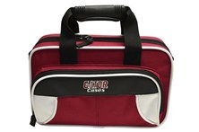 White and Maroon Clarinet Case